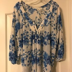 Lauren Conrad Antique Floral Blouse